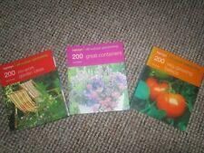 3 GARDENING BOOKS EXCELLENT CONDITION