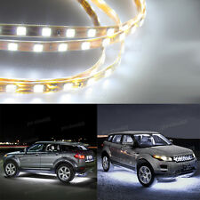 Universal 6000k White LED Strip Under Car Glow Underbody System Neon Light Kit Q