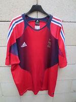 VINTAGE Maillot Equipe de FRANCE training ADIDAS 2004 shirt époque ZIDANE XXL