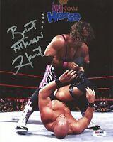 Bret Hart Signed WWE 8x10 Photo PSA/DNA COA Picture w/ Stone Cold Steve Austin