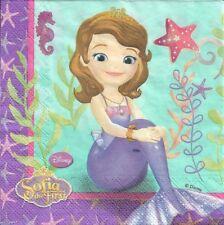 Lot de 2 Serviettes en papier Princesse Sofia Sirène Decoupage Collage Decopatch