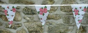 Floral Flowers Pattern Flag Polyester Bunting - Premium Quality