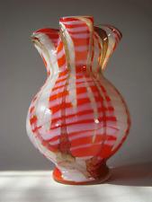 Schöne Fratelli & Toso Glas Vase Opalglas Überfang Opaline Glass Murano 40s 50s