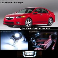 14PCS Cool White Interior LED Bulbs Package Kit for 2010 Acura TSX