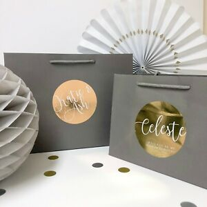 Rose Gold personalised wedding bag | GREY LUXURY FOIL BOUTIQUE | party gift bags