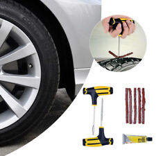 Car Tubeless Tyre Tire Puncture Repair Plug Kit Needle Patch Fix Tool Cement UK