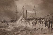 DEBARQUEMENT CALAIS LOUIS PHILIPPE GRAVURE 1840 VERSAILLES R1709