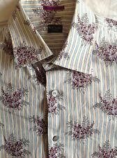 PAUL SMITH MENS FLORAL SHIRT MEDIUM (FITTED)