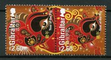 Gibraltar 2019 MNH Year of Pig 2v Set Chinese Lunar New Year Stamps
