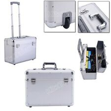 Rolling Travel Luggage Aluminum Trolley Suitcase Large Storage Carry On Bag