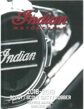 Indian 2018 2019 Scout / Scout Sixty / Bobber service manual in binder