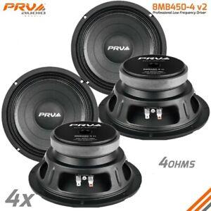 """4x PRV Audio 8MB450-4 Midbass Car Audio 8"""" Speakers 4 Ohm 8MB PRO 1800 Watts"""