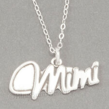 MIMI Charm Grandmother Love Pendant  925 STERLING SILVER & .925 chain Necklace