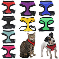 More details for adjustable pet harness restraint cat kitten dog puppy outdoor mesh breathable uk
