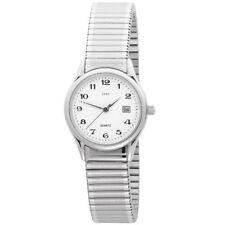 JOBO Damen Armbanduhr Quarz Analog Edelstahl Flexband Datum Damenuhr