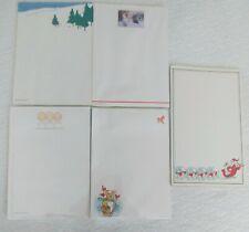 Lot of 5 HALLMARK CHRISTMAS HOLIDAY NOTEPADS ~Santa, Angels, Snow, Bunny, Trees
