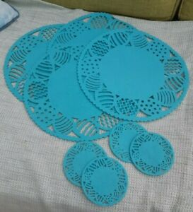Easter Felt Placemats Table Mats and Coasters x 4 of Each Blue BNWOT