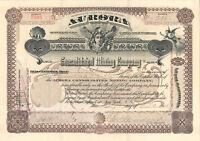 Aurora Consolidated Mining Company > 1904 Arizona stock certificate share