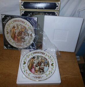Aynsley Limited Edition Christmas 1981 Plate