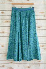 Vintage LIZ CLAIBORNE - Green BLUE paisley RAYON skirt, size 12 (fits small)