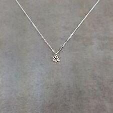 Star of David Silver Necklace in Gift Box Shield Jewish Zionist Jew Hexagram