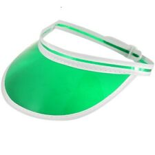 Poker Visor Hat Casino Croupier Adjustable Size Fancy Dress Cap Green H