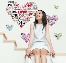 I LOVE YOU ROMANTIC LOVE HEART REMOVABLE WALL STICKER