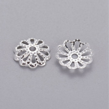 Silver Plated Bead Caps 9mm x 300 Jewellery Making Findings Craft UK