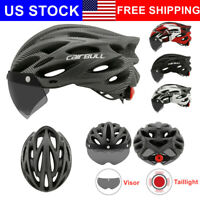 Bicycle Helmet MTB Mountain Road Bike Cycling Helmet with Visor Brim Taillight