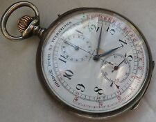 Longines Medical Chronograph Pocket watch open face 55 mm. in diameter