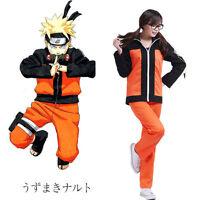 NARUTO Uzumaki Naruto Ninja Cosplay Suit Jacket and Pants Costume Men Women