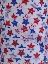 """5 Yds 7/8"""" PATRIOTIC 4TH OF JULY RED WHITE BLUE  LARGE STARS GROSGRAIN Ribbon"""