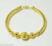 22K 23K 24K India Style Thai Baht Yellow Gold GP Bracelet Bangle