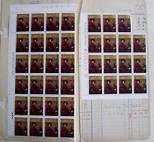 GB 1973 39 x 3p stamps SG 931, Sir Joshua Reynolds, 2 blocks (4x6; 4x4 -1), MNH