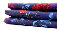 Bird Print Dressmaking Indian Cotton Fabric Quilting Craft Material 1/2.5/5 Yard