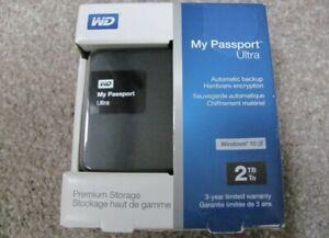 WD My Passport 2TB Ultra Portable External Hard Drive USB 3.0 WDBBKD0020BBK-NESN
