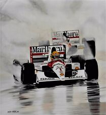Ayrton Senna  58x63cms limited edition  F1  art print by Colin Carter
