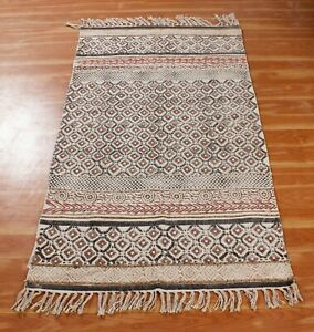 Handmade Block Printed Cotton Area Rug Home Decor Rugs Indian 2x3 4x6 6x9 ft New