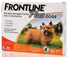 Frontline Plus Flea and Tick Control for Dogs and Puppies 8 Weeks or Older 6 Pck