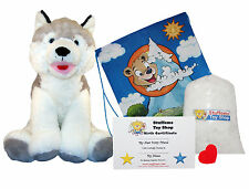 DIY Stuffed Animal Kit 16 Snowshoe Husky No Sew Compatible w Build-A-Bear, more