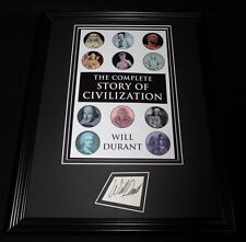 Will Durant Signed Framed 11x14 Photo Display Story of Civilization