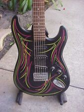 Custom Built, Short Scale, Pin Striped 6-String Bass or Baritone Guitar/