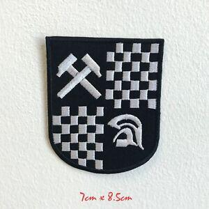 SKA Music Trojan Badge logo Embroidered Iron Sew on Patch#1522
