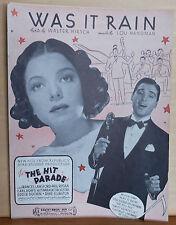 "Was It Rain - movie ""The Hit Parade"" - 1937 sheet music - Frances Langford"