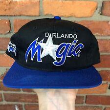 the best attitude 4aaea 40117 New ListingVtg Sports Specialties Orlando Magic Script Snapback Hat Cap NBA  Shaq black