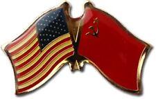 Américain USA USSR Friendship Drapeau Vélo Moto Chapeau Bonnet Épinglette