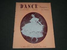 1951 JANUARY DANCE MAGAZINE - ANNA PAVLOVA COVER - ST 4879