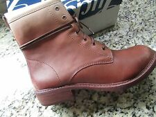NEW LUCKY BRAND NOVEMBERE OMBRE COGNAC TAN LEATHER MID BOOTS WOMENS 9.5