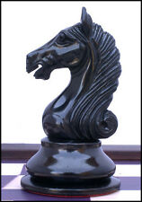 "Antique Warrior Club Size Premium Staunton 4"" Ebony & Box Wood Chess Pieces"