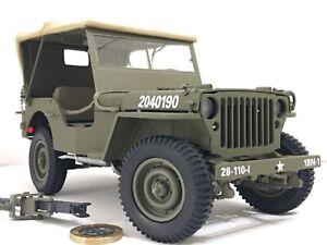 Franklin/Danbury mint 1:16 1942 WWII Willy's Jeep US Army Classic model rare 118